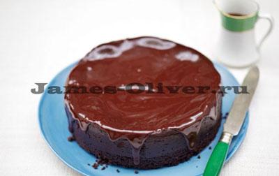 Пряный имбирный шоколадный чизкейк
