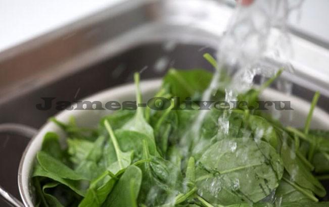 Вымыть шпинат