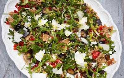 Салат из баклажанов с пастой