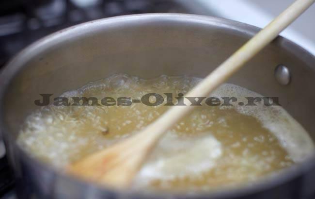 Приготовление риса с креветками