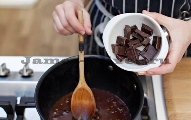 Приготовление шоколадного пудинга