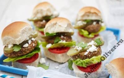 Мини-гамбургеры для детей в домашних условиях