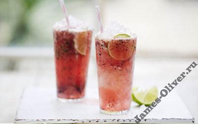 Яблочно-ягодный коктейль с водкой